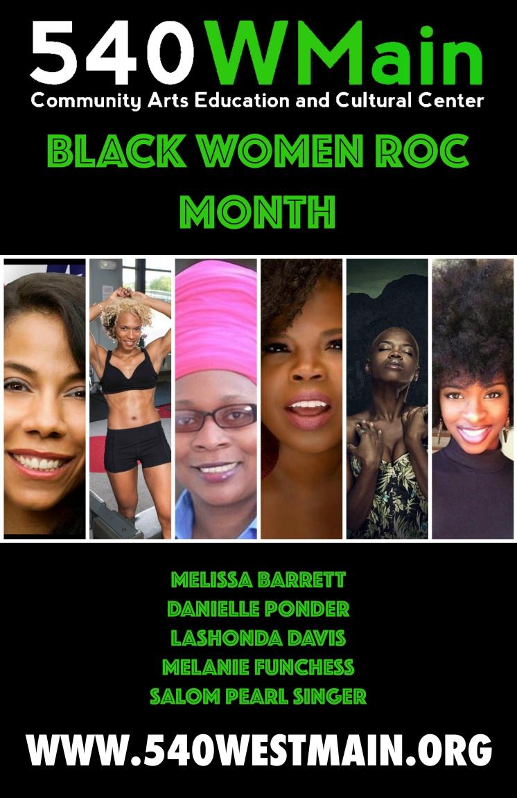 Black Women Roc Month Poster