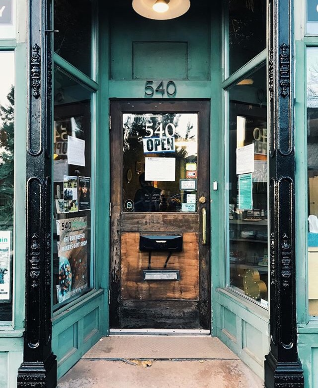 green store front