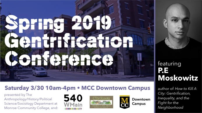 Gentrification Conference FB event & page banner