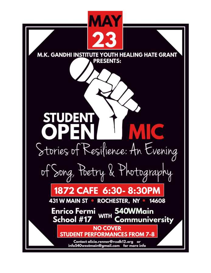 School 17 and 504WMain Open Mic Night Flyer With Both Contacts-1