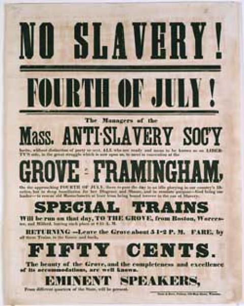 no slavery - July 4th