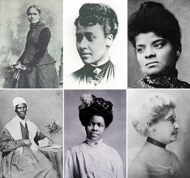 photo collage of black women suffragists