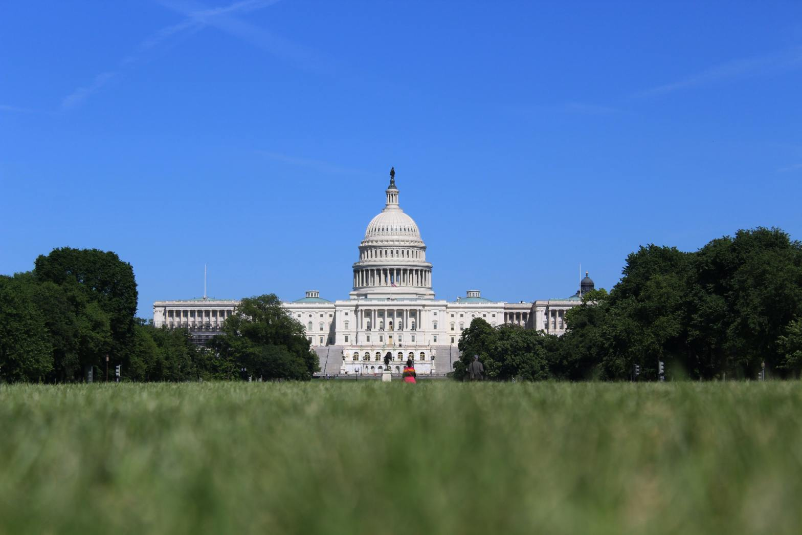 photo of United States capital building and lawn